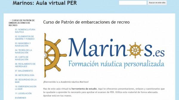 Aula virtual del PER con exámenes y preguntas tipo test