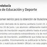 Convocatoria extraordinaria de PER, PNB, Patrón y Capitán en Andalucía