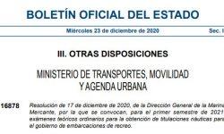 Exámenes PER Madrid en 2021