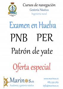 PNB PER Patron de yate Huelva Precio Especial 2016