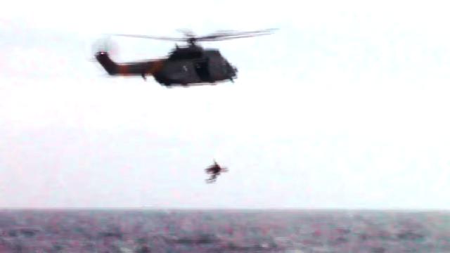Rescate naufrago por helicóptero