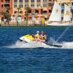 Navegar con motos de agua